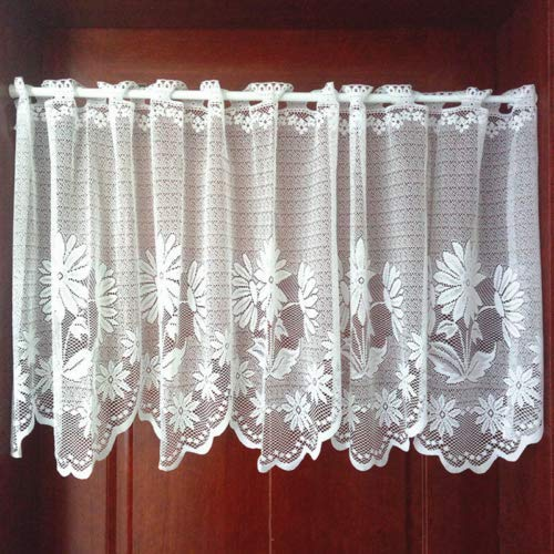Sunflower Valance Curtains 57x18in,Window Treatment for Home Kitchen Cafe Bedding Living Dinning Bath Room Door Balcony Decor