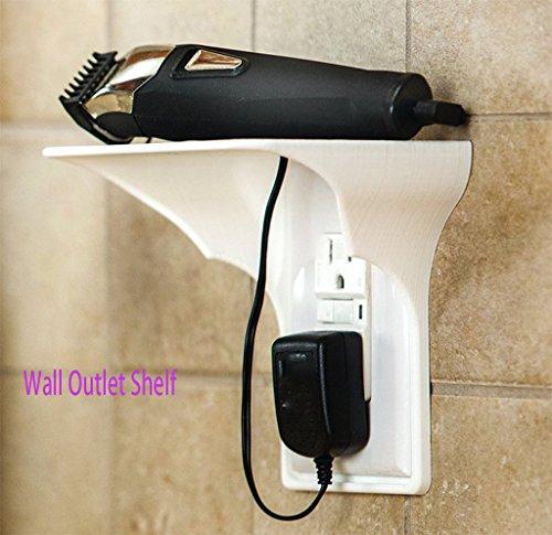 Lonve Wand Outlet Regal, Ultimative Outlet Regal Power Barsch Single Regal, Ideal Für Zu Hause Speicher, Einfache Installation, Weiß