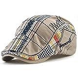 Sombrero de pico de pato de algodón Tapa Plana taxista la tapa exterior ajustable unisex de moda Repartidor de prensa Hat Beret Cap