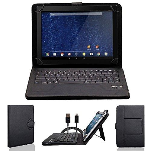 NAUC Bluetooth Tastatur Tasche für Asus Padfone 2 Tablet Hülle Cover Hülle Bag