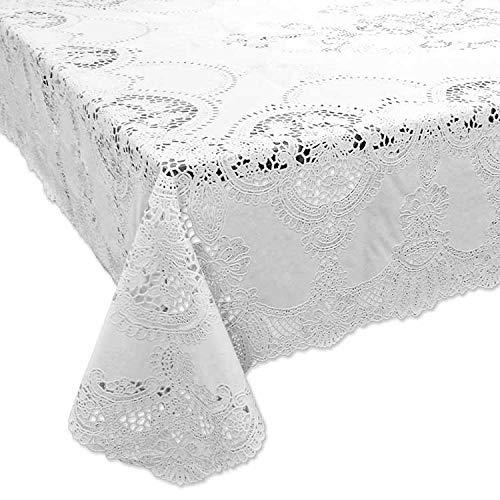 Tischdecken Amira Vinyl 137x180cm white