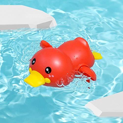 Qiuday Badespielzeug Baby, Schwimmen Badewanne Pool Babyspielzeug Uhrwerk Wasserspielzeug Ente Badewannenspielzeug Aufziehspielzeug Geschenk Für Kleinkinder Jungen Mädchen