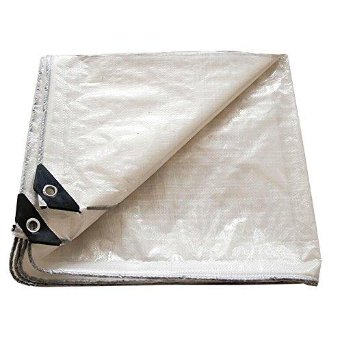 Pengbu MEIDUO Lonas Tarp Cover White PE Waterproof, Ideal para toldo de toldo, Bote, RV o Piscina -0.3mm 120g / m2 para al Aire Libre (Color : Blanco, Tamaño : 8mx10m)