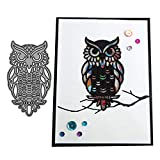One Owl Metal Die Cuts, Cutting Dies Cut Stencils for DIY Scrapbooking Photo Album Decorative Embossing Paper Dies for Card Making Template