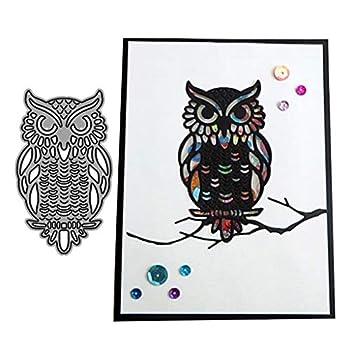 One Owl Metal Die Cuts Cutting Dies Cut Stencils for DIY Scrapbooking Photo Album Decorative Embossing Paper Dies for Card Making Template
