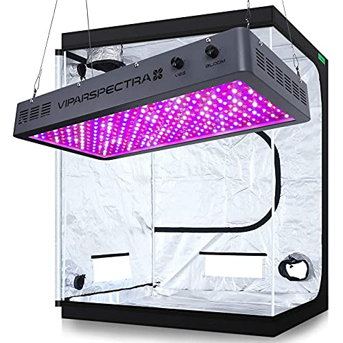 VIPARSPECTRA Dimmable 3000W LED Grow Light with 5'x5 Mylar Hydroponic Grow Tent Complete Kit for Indoor Plant Growing