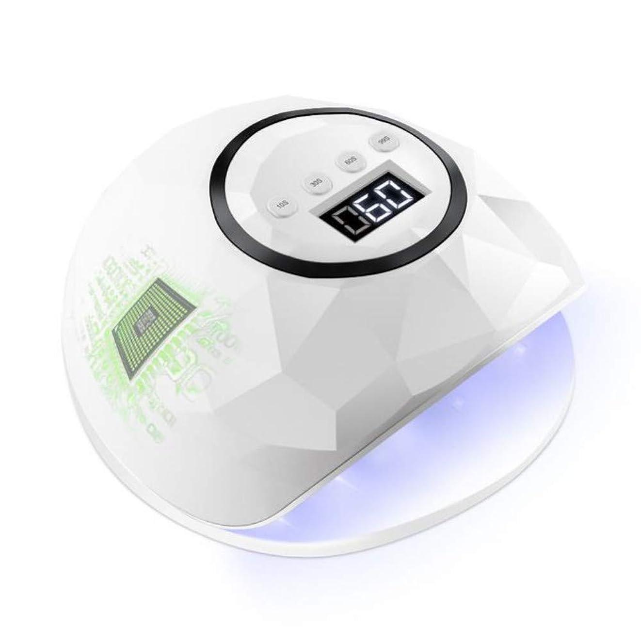 ネイルドライヤー72ワットネイルドライヤーLEDデュアルUV LEDネイルランプ用硬化UVジェルネイルポリッシュセンサー付きネイルアートランプLedマニキュア