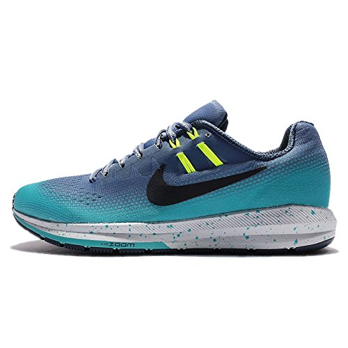 Nike Women's W Air Zoom Structure 20 Shield, Ocean Fog/Black-Gamma Blue-Volt, 6 US