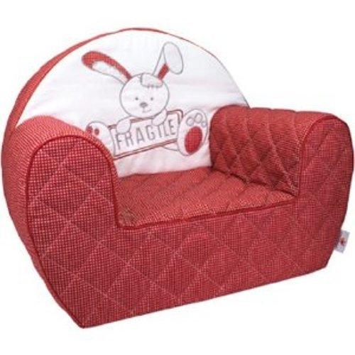 Candide 163080 Lapin fragile - Sillón para bebés con diseño de conejo, color rojo