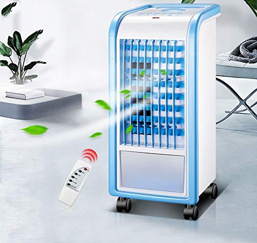 XXL 3 in 1 Luftkühler Blau mit Fernbedienung 4L 3 Geschwindigkeit Ventilator Luftbefeuchter und Lufterfrischer
