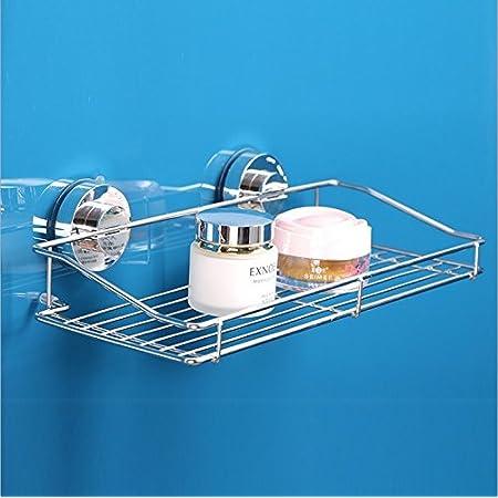 【 真空吸着でズレ落ちない 】 強力 吸盤 どこでもラック トレイ ホルダー 2size 棚 キッチン お風呂 バス 水切り 洗面所 お風呂 壁 ガラス タイル (Mサイズ:250×90×135mm)