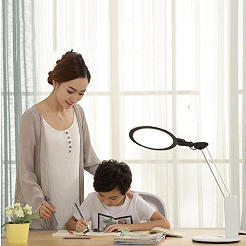 Desk Lamp &taindge & Led Protección ocular Niños Aprendizaje Ojos Escritorio Estudiante Dormitorio Lectura Dormitorio Lámpara de Mesita de noche tyajnsj (Color: Blanco)