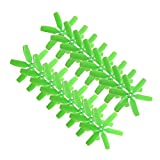 RAYCorp 4040 6-Blades (4x4x6) Propellers. 16 Pieces(8CW, 8CCW) Green - Polycarbonate 4-inch Hexa Blades Mini Quadcopters & Mutlirotors Props + Battery Strap