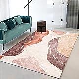 Alfombra pequeña Alfombra marrón, té fácil de Limpiar Varias alfombras hidratantes sinfonía Alfombra Persa -marrón_140x200cm