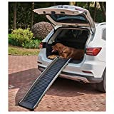 gineric Dog Lover Folding Dog Ramp Portable Pet Ramp for Cars Back Seat Ladder Lightweight Pet Collapsible Car Ramp Load up to 150Pound(Black)