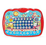 Bambiya Learning Pad Tablet for Kids - Preschool Educational ABC Toy Teaches Alphabet and Numbers with Lights, Sound Effects and Music – Early Development Musical Tablet for Toddlers from 24+ Months