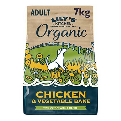 Lily's Kitchen Aliment sec complet pour chien adulte – Poulet bio cuit au four, 7 kg