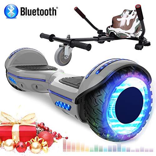 RCB Elektro Self Balance Scooter, 6,5 Zoll Self-Balancing Scooter mit Hoverkart Go-Kart für Erwachsene und Kinder - Zertifiziert mit Bluetooth Lautsprecher LED