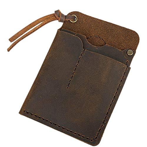 Pceewtyt Organizador de piel hecho a mano EDC para bolsos, linterna, multiherramientas/cuchillo/lápiz