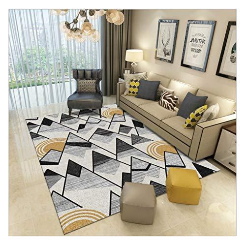 laagpolig designer tapijt Home woonkamer tapijt met contour cut strepen vierkant bladeren patroon voor vloerverwarming geschikt slaapkamer hal (kleur: 12, maat: 80 * 120cm)