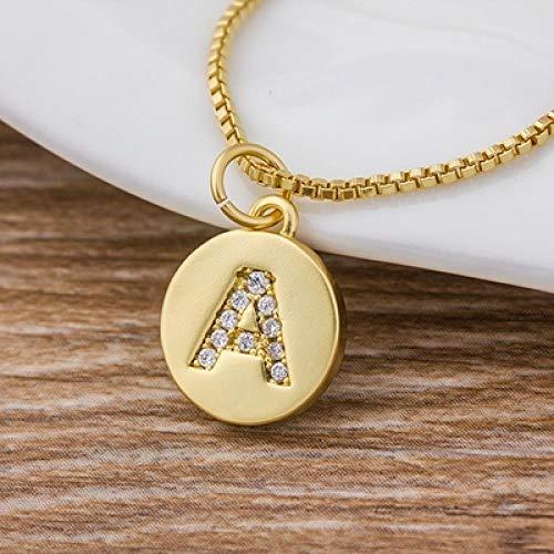 JIAJIA letter van goud 26 halsketting met alfabet, lange ketting met hanger, sieraden voor feestaccessoires, als cadeau voor kleding