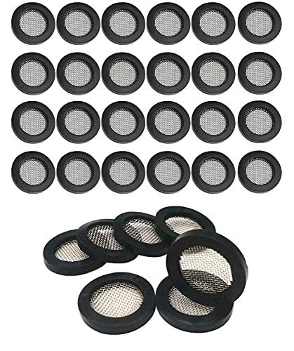 Arandelas de goma para manguera de ducha, con filtro de cabezal de ducha de acero inoxidable 304, manguera de válvula de ducha, lavadora y grifo de agua pieza de repuesto (color: 50)