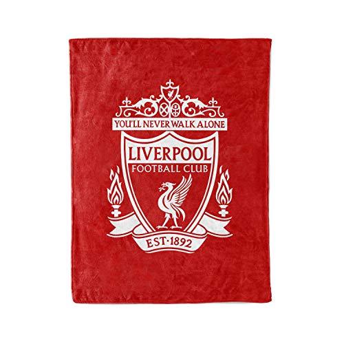 Southernmost Design Custom Liverpool FC LFC Fleece and Sherpa Throw Blankets Personalized England Premier League Klopp Mane Salah Blanket Warm Lightweight Snuggle Men Women Kids Soccer Apparel Gifts