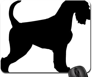 Mokale High Quality Mouse Pad - Schnauzer Dog Doggy Outline Animal Coat Shape Non-Slip Mouse pad