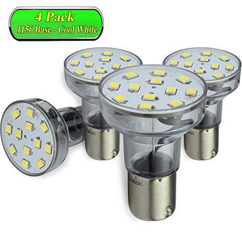 2 Pack SnowyFox 12V LED RV Exterior Porch Light 750 Lumen for RVs Trailers Campers