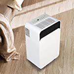 WQSFD 30Pint Dehumidifiers 4 Gallons/Day Intelligent Humidity Control for Space Up to 1000 Sq Ft for Home Basements… 12 30 Pints Dehumidifier: With removal capacity of up to 30 pints of water per day (under 90% RH @ 95°F condition), this energy-efficient dehumidifier is ideal to dehumidify damp rooms up to 1056 sq ft, like attics, basements, bathrooms, laundry room, garages, and even campers or RV. Easy-to-use Dehumidifier: With a built-in humidistat, this smart dehumidifier will AUTO-STOP when set humidity level has been met and AUTO-RESTART when room humidity goes up again. The switchable fan speed add flexibility and the programmable 24H ON/OFF improves energy savings. User-friendly Drainage Options: This small dehumidifier will auto shut off when the 4-Pint (0.5 Gal.) water reservoir is full and audibly alert you to empty it. Too busy to empty it manually? This dehumidifier with drain hose (6.56-ft) allows you to simply attach the hose to achieve self-draining by gravity.