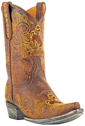 Gameday Boots NCAA Ladies 10 inch University Boot Wyoming Cowboys, 8.5 B (M) US, Brass