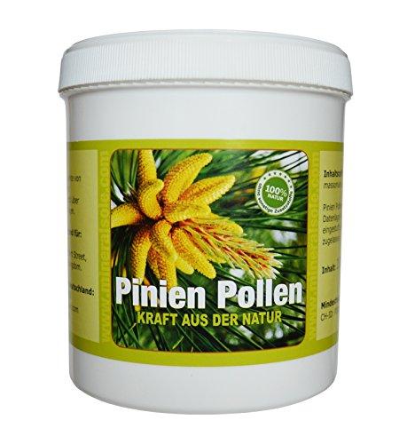 Pollen de pin 100 g Cueillette sauvage Parois cellulaires brisées à 99 % Testé dans un laboratoire allemand pour les substances nocives