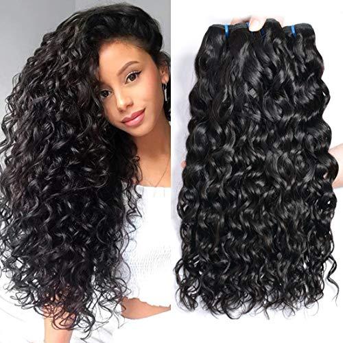 ur Beautiful 8A Brazilian Hair 3 Bundles Curly Human Hair Bundles Water Wave Hair Brasilianisches lockiges Haar 100% jungfrau Brasilianische Haare Natural Color insgesamt 300g (22 24 26)