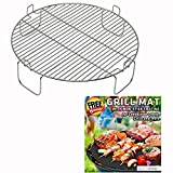 3 inch Stainless Steel Grill Rack Compatible with NuWave Oven PRO PLUS and ELITE Models | Reversible 1 inch...