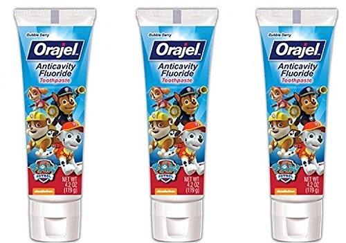 Orajel PAW Patrol Anticavity Fluoride Toothpaste 4.2 Oz (Pack Of 3)