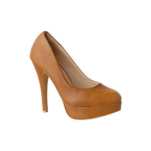 586e3403d6fad2 Elara Plateau Pumps | Bequeme Damen High Heels | Abend Schuhe | Chunkyrayan