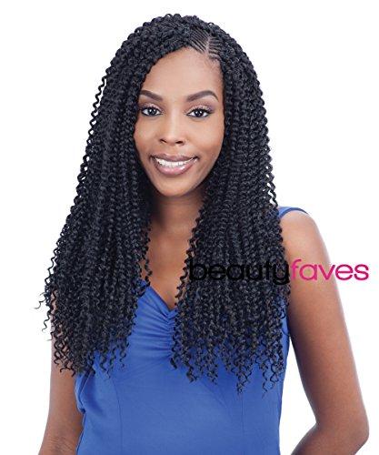 FreeTress Bulk Braiding Hair - Kinky Bohemian Braid (1B - Off Black)