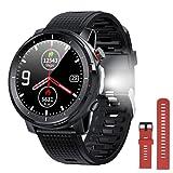 Smartwatch Uomo Donna Orologio Fitness con Torcia Elettrica,Pressione Della Frequenza...