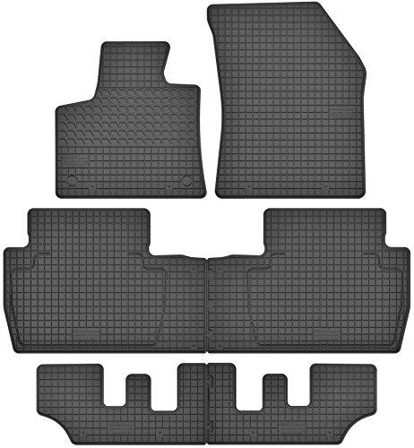Motohobby Gummimatten Gummi Fußmatten Satz für Peugeot 5008 II (ab 2017) für 7 Personen - Passgenau
