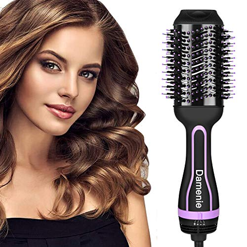 Damenie Haartrockner Warmluftbürste 5 in 1 Upgrade Hair Dryer & Volumizer Styler Föhnbürste Stylingbürsten Rundföhnbürste Stylen Heißluftbürste und Föhnen Bürste für Alle Haartypen