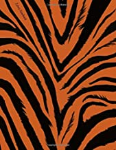 Zebra Notebook: Brown Zebra Notebook, Animal Print Notebook, College Ruled Notebook, 150 Pages, Lined Paper