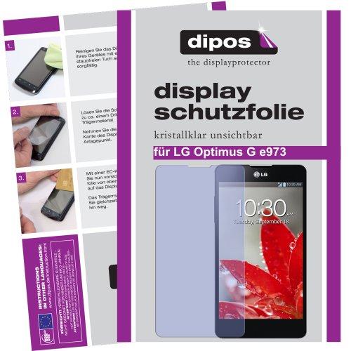 dipos I 4X Schutzfolie klar kompatibel mit LG Optimus G E975 Folie Displayschutzfolie