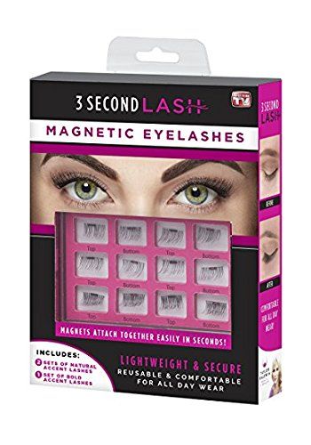 3 Second Lash Magnetic Natural Eyelashes in Black (pack of 2)
