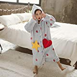 TWDYC Lindos niños Coreanos Pijamas for Las niñas Robas de baño de niños Vintage Pijamas for Las niñas Robas de baño Noche de Albornoz Use Niños cálidos Albornoz (Size : Pink)