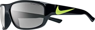 EV0887-007 Mercurial Sunglasses (One Size), Black/Volt, Grey with Silver Flash Lens