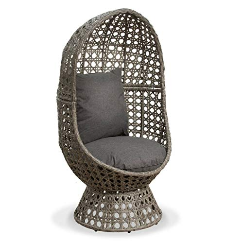 Swivel Cocoon Egg Chair Rattan Wicker Super Comfy Ideal For Garden & Conservatory