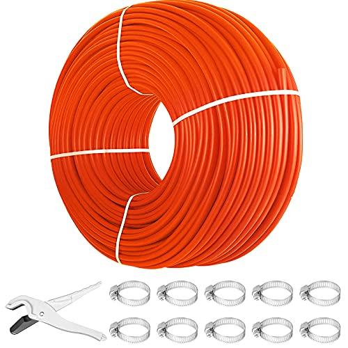 Happybuy 1000Ft PEX Tubing Pipe 1/2' PEX Tubing Oxygen Barrier Radiant Floor PEX Pipe Radiant Heat Floor Heating Plumbing Cold and Hot Water Tubing