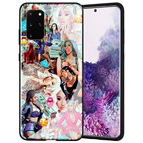Fashion Phone Case for Samsung Galaxy A71 Cover,9H Tempered Glass Soft Silicone Back Cover Anti Scratch Bumper Design LB-28 Cardi B CardiB Protective Case