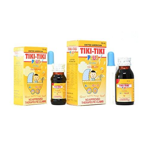 2 Bottles of Tiki-Tiki Plus Drops 30ml