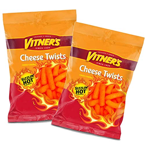 Vitner's Sizzlin' Hot Cheese Puffs 2 Pack 3.5 Bags A Chicago Original